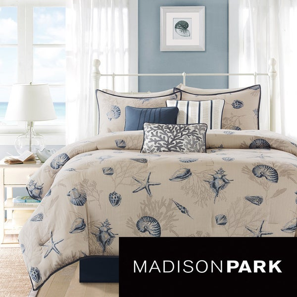 Madison Park Nantucket 7 Piece Comforter Set Free