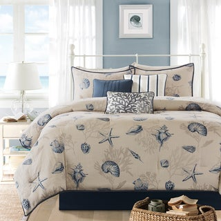 Madison Park Nantucket Cotton Printed 7-piece Comforter Set