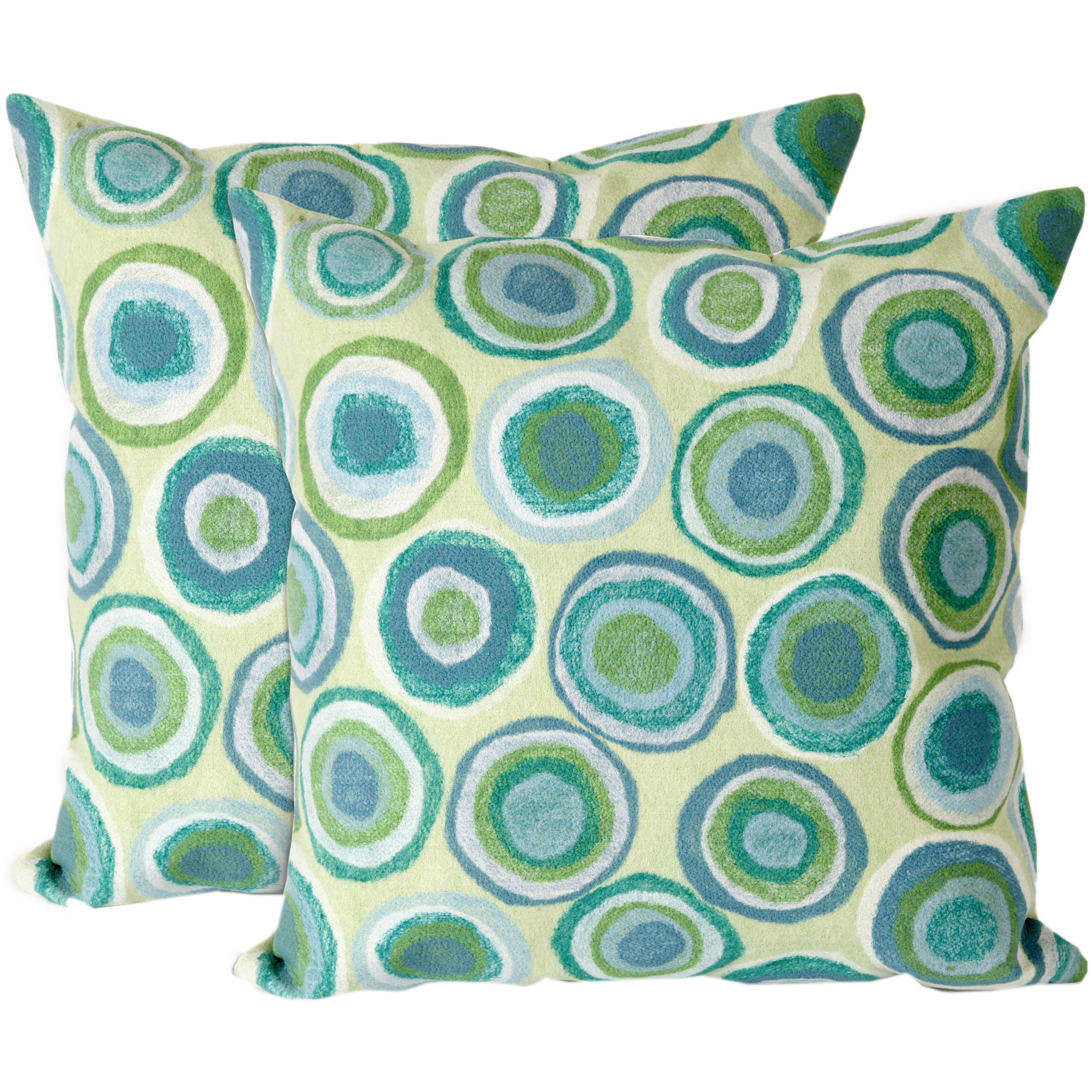 Pebbles 20-inch Throw Pillow (Set of 2) (Pebbles In/Outdoor 20 Sq Pillow Set)