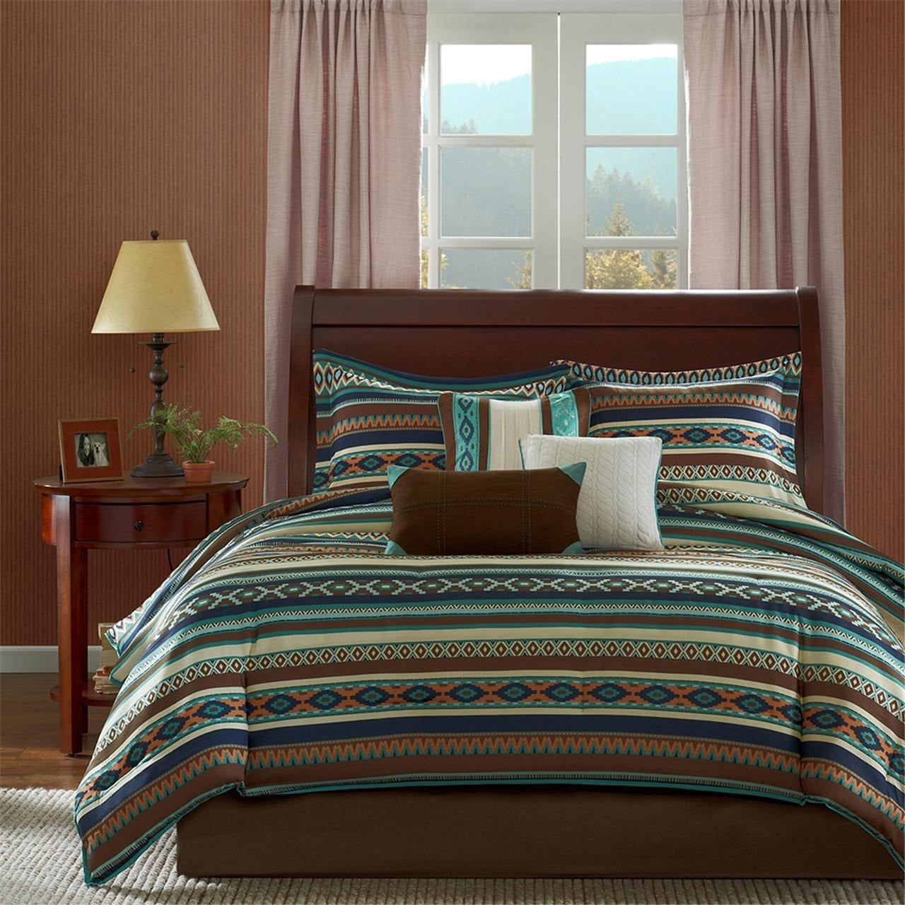 Madison Park Harley Southwest Print 7-piece Comforter Set