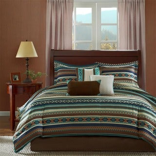 Madison Park Harley Southwest Print 7-piece Comforter Set - Thumbnail 0