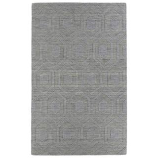 Trends Steel Grey Loft Wool Rug (9'6 x 13'6)
