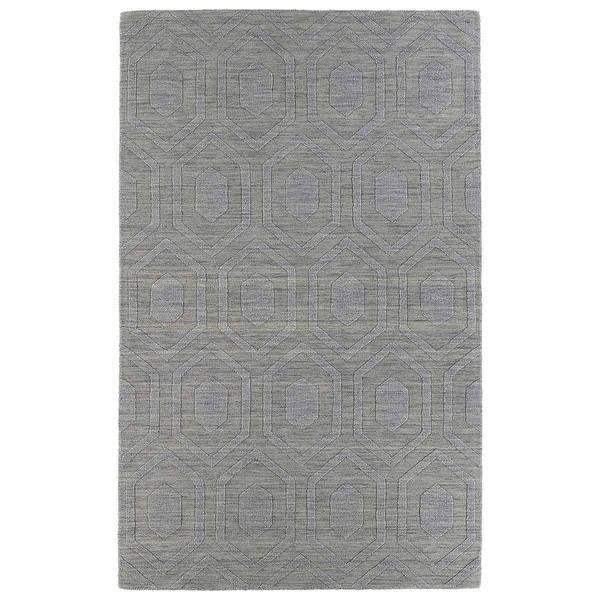 Trends Steel Grey Loft Wool Rug (9'6 x 13'6)