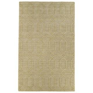 Trends Yellow Pop Wool Rug (5'0 x 8'0)