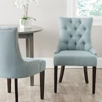 Safavieh En Vogue Dining Abby Sky Blue Dining Chairs (Set of 2)