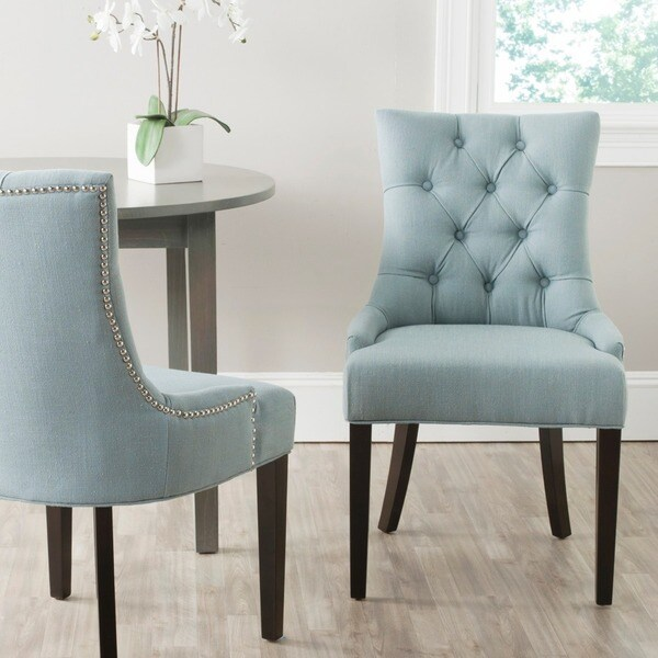 Safavieh Dining Chairs: Shop Safavieh En Vogue Dining Abby Sky Blue Dining Chairs