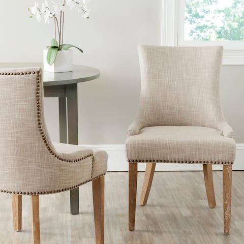 "Safavieh Dining Lester Grey Dining Chair (Set of 2) - 22"" x 24.8"" x 36.4"""