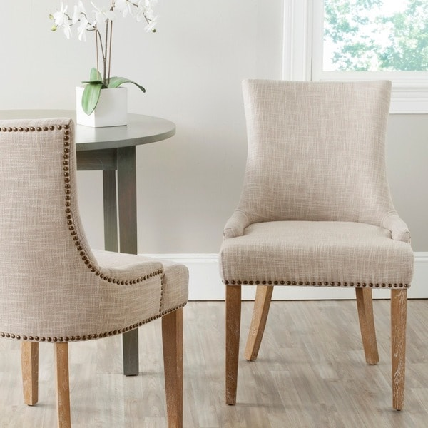 Safavieh Lester Grey Dining Chair (Set of 2) - Free Shipping Today ...