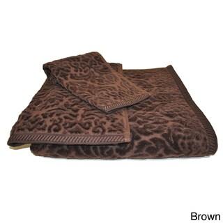 Link to Austin Horn Classics Sculptured Jacquard 3-piece Towel Set Similar Items in Towels
