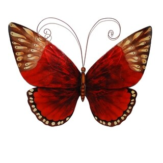 Handmade Red Butterfly Wall Art