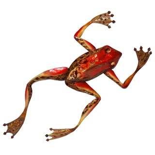 Handcrafted Small Frog Wall Art , Handmade in Philippines