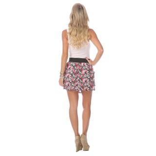 Stanzino Women's Floral Pocket Mini Skirt