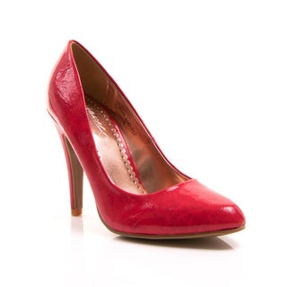 Gomax Women's 'Ashland 01Z' Red Pointed Toe Pumps