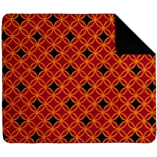 Denali Gold and Red Rings Throw Blanket