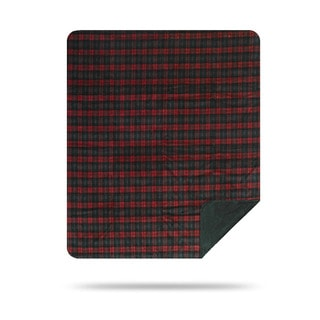 Denali Red and Green Classic Plaid Throw Blanket