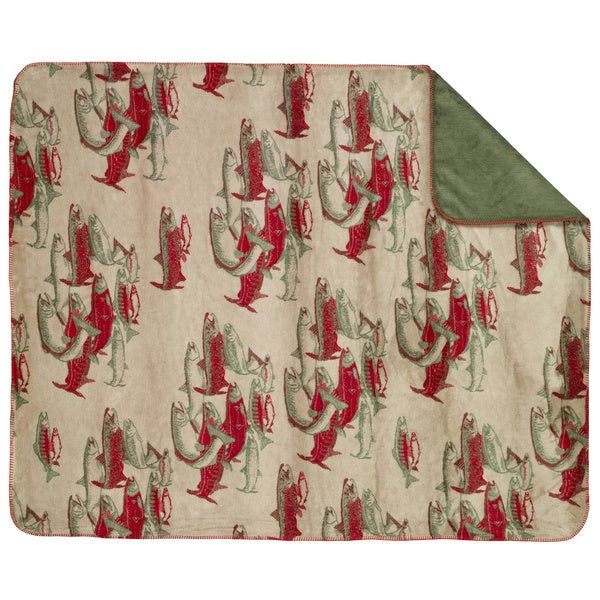 Denali Red and Green Pacific Five Throw Blanket