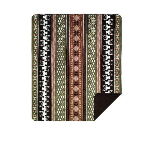 Denali Nordic Deer/Chocolate Blanket - 60x50