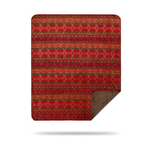 Denali Earth-spirit Red Southwestern Throw Blanket