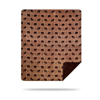 Denali Wilderness Walk/Chocolate Blanket - 60x50