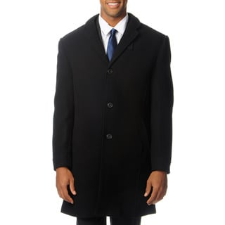 West End Men's 'Walters' Black Top Coat