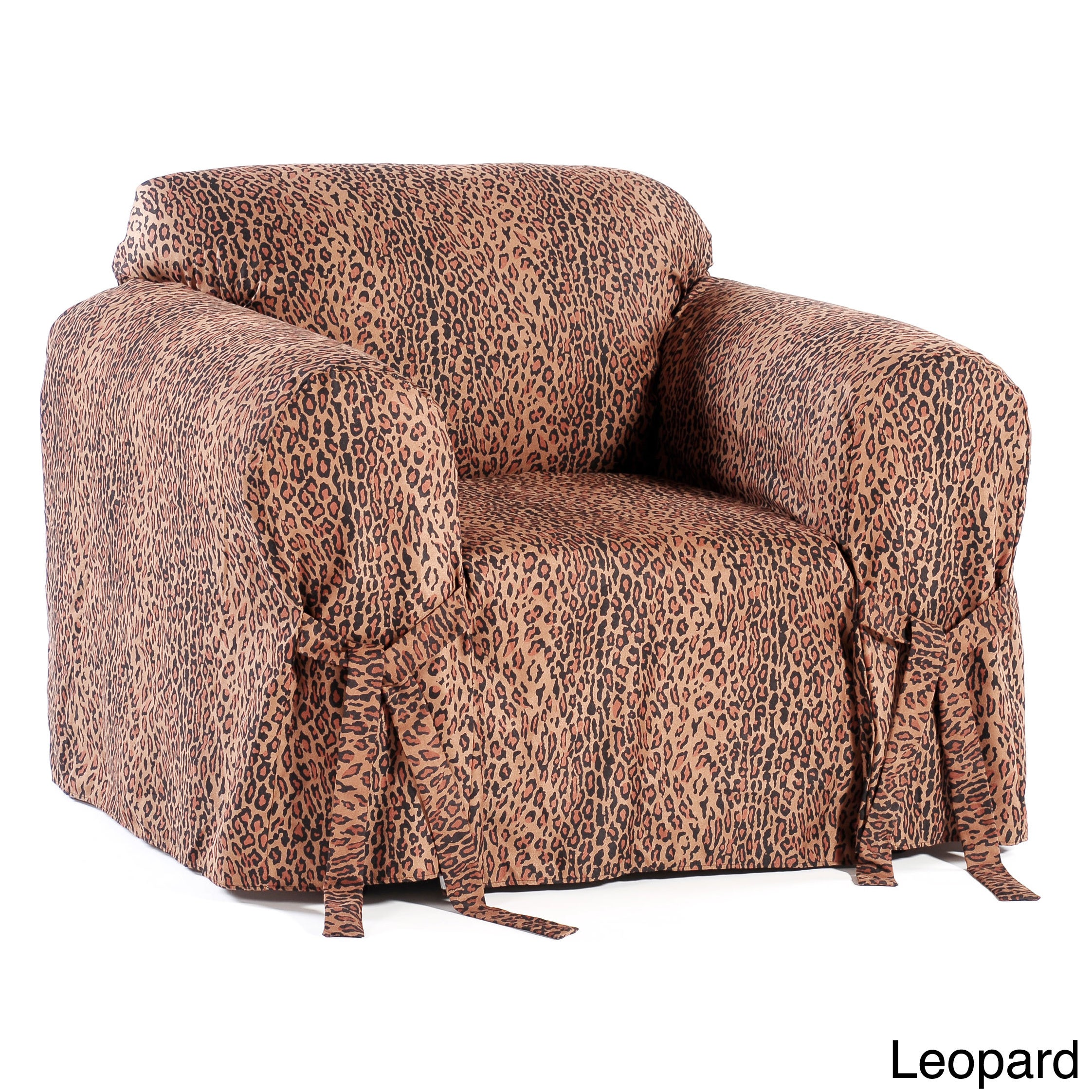 Details about microsuede animal print chair slipcover