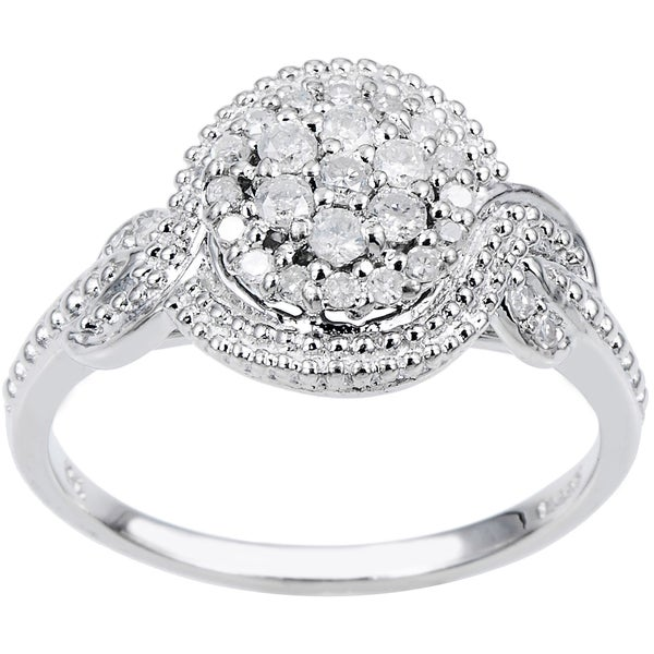 Cambridge Sterling Silver 1/4ct TDW Diamond Ring
