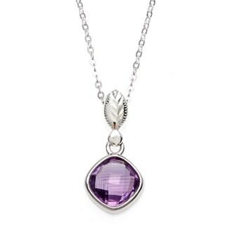La Preciosa Sterling Silver Amethyst Necklace