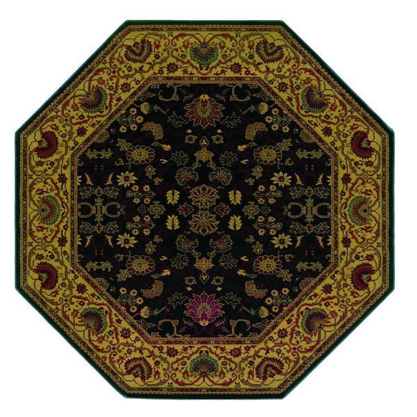 "Everest Tabriz Midnight Octagon Area Rug - 7'10"" octagon"