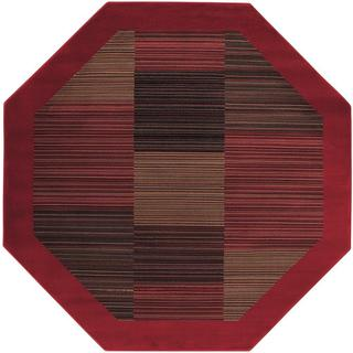 Everest Hamptons Red Octagon Area Rug - 7'10 x 7'10