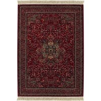 Spencer Medal Antique Red Wool Area Rug - 5'3 x 7'9
