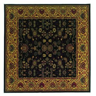 "Everest Tabriz Midnight Square Area Rug - 7'10"" square"