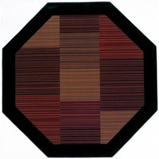 Power-Loomed Delta Nantucket Multi-Stripe Ultra-Fine Polypropylene Rug (3'11 Octagon)