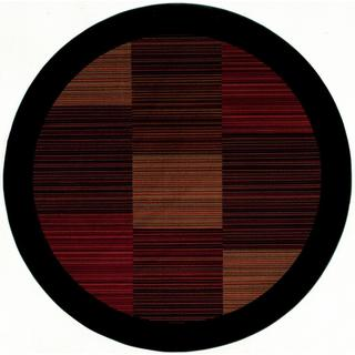 Power-Loomed Delta Nantucket Multi-Stripe Ultra-Fine Polypropylene Rug (5'3 Round)