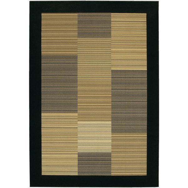 """Everest Hamptons/Multi Stripe-Black Area Rug - 7'10"""" x 11'2"""""""