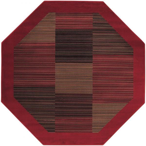 "Everest Hamptons/Red Octagon Rug - 3'11"" octagon"