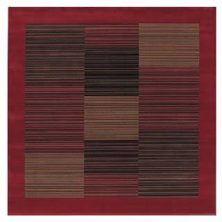 """Everest Hamptons/Red 3'11"""" Square Rug"""