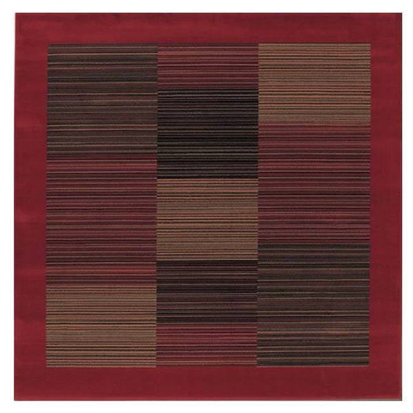 "Everest Hamptons Red Square Area Rug - 5'3"" Square"