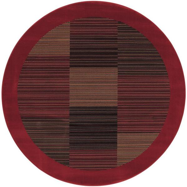 "Everest Hamptons Red Round Area Rug - 7'10"" round"