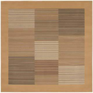 "Everest Hamptons/Sahara Tan 5'3"" Square Rug"