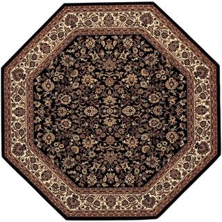 Power-Loomed Delta Vera Black Ultra-Fine Polypropylene Rug (3'11 Octagon)