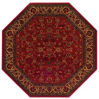 """Delta Vera Crimson Octagon Area Rug - 7'10"""" octagon"""