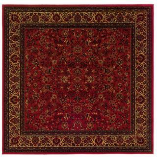 Power-Loomed Delta Vera Crimson Ultra-Fine Polypropylene Rug (7'10 Square)