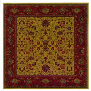 "Everest Tabriz/Harvest Gold 3'11"" Square Rug"