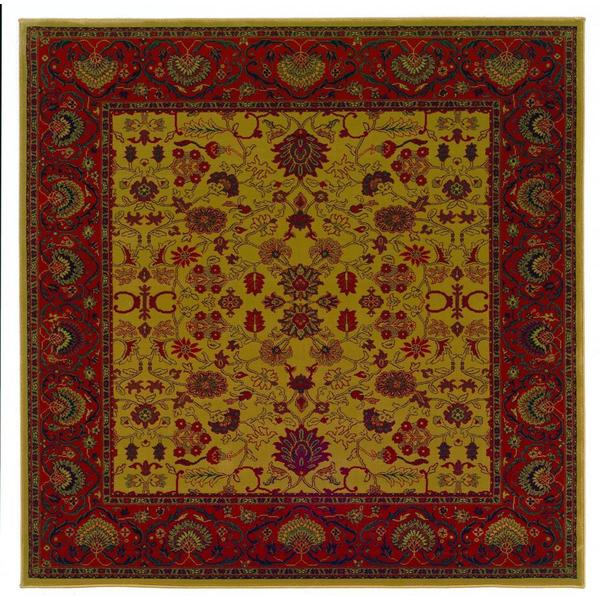 "Everest Tabriz Harvest Gold Square Area Rug - 3'11"" square"