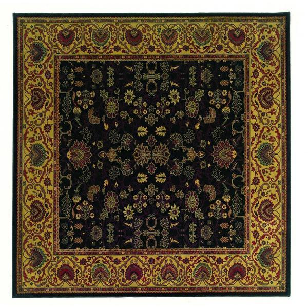 "Everest Tabriz Midnight Square Area Rug - 3'11"" square"