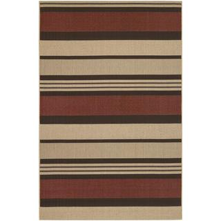 "Five Seasons Santa Barbara/Red-Natural 3'11"" x 5'6"" Rug"