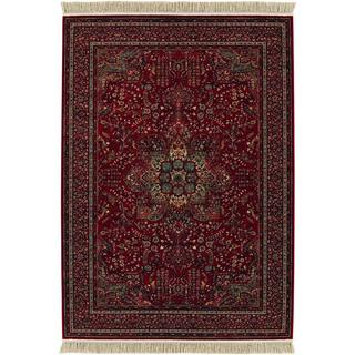 Power-Loomed Spencer Medal Antique Red New Zealand Semi-Worsted Wool Rug (6'6 x 10'1)