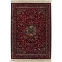 "Spencer Medal Antique Red Wool Area Rug - 7'10"" x 11'2"""