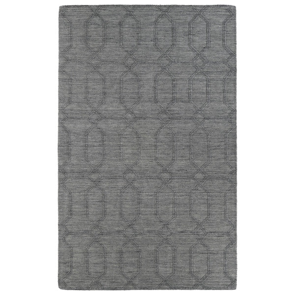 Trends Grey Pop Wool Rug - 5' x 8'