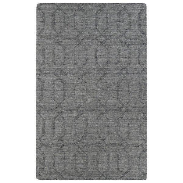 Trends Grey Pop Wool Rug - 8' x 11'